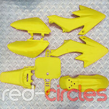 YELLOW CRF50 STYLE PIT BIKE FAIRING PLASTIC SET / KIT 50cc 110cc 125cc PITBIKE