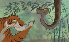 1967 WALT DISNEY JUNGLE BOOK SHERE KHAN & KAA ORIGINAL PRODUCTION ANIMATION CELS