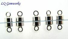 10 (Ten) STERLING SILVER 4.5mm Magnetic Button Clasps
