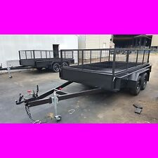 11x6 TANDEM TRAILER WITH CAGE 2TON FULLY WELD FULL CHECKER PLATE also 10x6 12x6