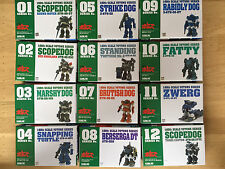 A Set of 12 Votoms Series Kits 1/60 Scale From Wave (Rare)