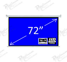 "New 72"" Electric HD Projection Screen projector home cinema 16:9 Glass Bead"