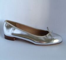 JCrew Classic Kiki Mirror Metallic Ballet Flats 5 Silver Womens Shoes $158 NEW