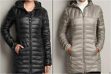 NWT Eddie Bauer Women's Astoria Hooded Goose Down Parka Coat Jacket Black Siz XS
