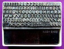 Stampa tipografica ad Adana-Fonte di tipo 18pt Heavy capitali in scatola di plastica in buonissima condizione
