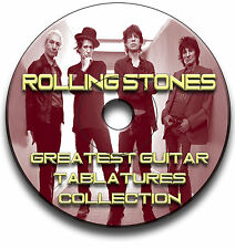 ROLLING STONES ROCK GUITAR TABS TABLATURE SONG BOOK SOFTWARE CD