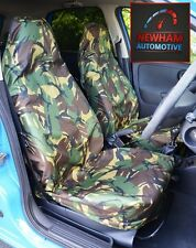 JEEP WRANGLER HARDTOP 93-05 CAMOUFLAGE DPM WATERPROOF FRONT SEAT COVERS 1+1