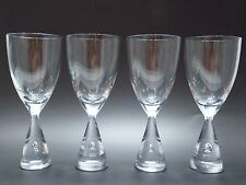 4 Vintage Holmegaard Princess Beer Water Glasses 8.3 Inch Danish Modern Signed