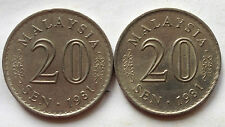 2 pcs Parliament Series 20 sen 1981