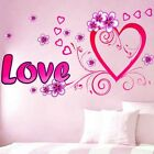 Pink Love Hearts Wall Sticker Decal Vinyl Art Home Decor Removeable