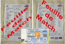 Les 2 Feuilles de Match du France Brésil 98 Zidane + Photo ticket finale