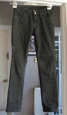 "Fabulous UNIQLO Japan Charcoal / Black Jeans 25"" Waist 33"" Long"