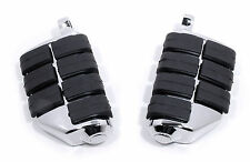 Reposapiés Dually Foot pegs cromo para Harley Davidson Dyna Softail Sportster
