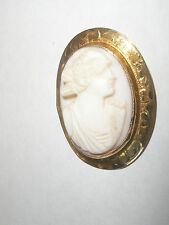 Nice Antique  14k yellow gold  cameo brooch