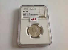 1899 Great Britain Shilling Ngc Ms 61
