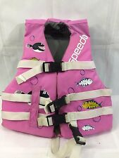 SPEEDO PINK CHILD YOUTH 30- 50 LBS GIRLS FISH ORCA LIFE JACKET III PFD VEST