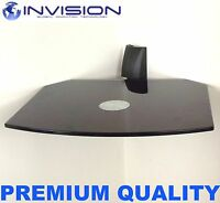Floating Black Glass Wall Mount Bracket Shelf for SKY Box PS3 DVD & HiFi Units