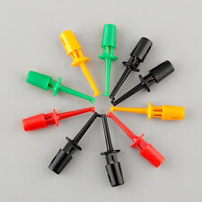 New Multi-color 10 Pcs Mini Test Hook Clip Electronic Testing Grabber