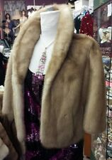 VINTAGE DESIGNER BLOND MINK Real Fur Stole Cape Jacket Coat Bolaro WEDDING