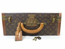 Louis Vuitton Suitcase Trunk Luggage Hard Case Keys President Briefcase Bag V628