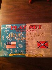 Louis Marx Civil War Miniature Blue and Gray Playset