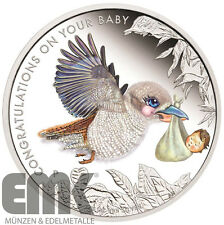Australien - 50 Cents 2017 - New Born Baby - 1/2 Oz. Silber Farbe in PP