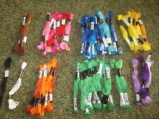 77 Skeins J.P.COATS Cotton Embroidery Floss - Separated by Colors