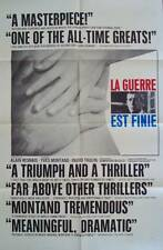 LA GUERRE EST FINIE WAR IS OVER 1 sheet movie poster 27x41 MONTAND ALAIN RESNAIS