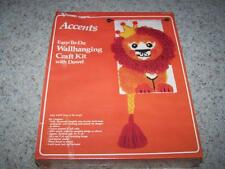 VOGART Crafts Wallhanging LATCH HOOKING Craft KIT #4673 KING OF THE JUNGLE