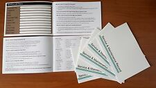 Vauxhall Service History Book - Opel Vehicle Maintenance Record Log Replacement.