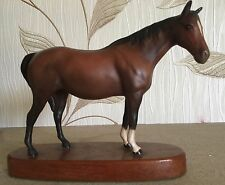 BESWICK HORSE PONY MARE FACING RIGHT HEAP UP  No. 1991 BROWN MATT ON PLINTH