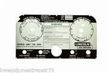 Lincoln SA-200 Blackface Welder Replacement Faceplate Code L-5750 BW121