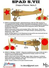 KV Decals 1/72 SPAD S.VII Soviet Russian Air Force 1919-1921