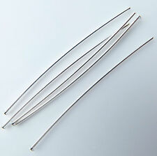 200 Head pins thin soft 50mm Silver plated top quality, made in UK nickel free.