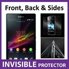 Sony Xperia Z1 Full Body INVISIBLE Screen Protector Shield Front & Back