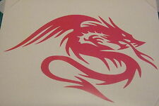 Chinese Dragon Tribal in Red -Vinyl Cut Car Decal sticker, Graphic Wall Art