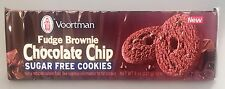 Voortman Sugar Free Fudge Brownie Chocolate Chip Cookies 8 oz
