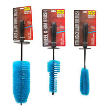 3 Pack Professional Long Reach Alloy Wheel Rim Grill Spoke Brush Cleaner Set