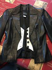 ♥ Magnifique et rare veste  en cuir de la  marque Edward Achour  ♥