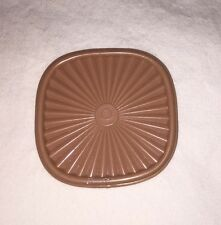 Tupperware Tan Mini Servalier Bowl Seal/Lid Refrigerator Magnet