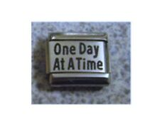 9mm Classic Size Italian Charm L1 One Day at a time