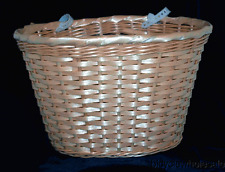 Extra Large Plastic Woven / Imitation Light Brown Wicker Basket  NEW!