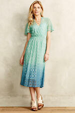 New $198 Anthropologie Ombre Midi Dress By Vanessa Virginia Size 6