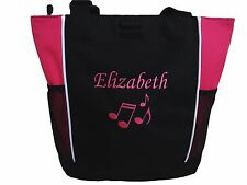 TOTE BAG Personalized Zippered Music Notes Piano Band Teacher Gift Appreciation