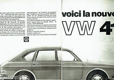 PUBLICITE ADVERTISING 026  1968   Volkswagen la VW 411  (2p)