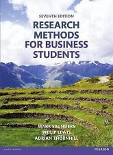 Research Methods for Business Students by Mark Saunders, Philip Lewis and Adrian