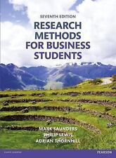 Research Methods for Business Students, 7th ed.