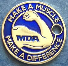 2 BLUE MDA MAKE A MUSCLE MAKE A DIFFERENCE Pathtag Geocaching