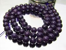 "67 NATURAL UNTREATED AFRICAN PURPLE SUGILITE ROUND BEADS 6mm 125ctw 15.5"" strand"