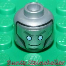 SB02-08) 1 Stück Ninjago Minifig Kopf Nr. 1570 von Titan Zane mit 2 Gesichter